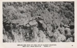 RPPC Airplane View Top of the Rocks - Rock City Park, Olean NY, New York
