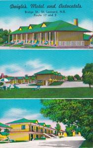 Canada New Brunswick St Leonard Daigle's Motel and Autocatels