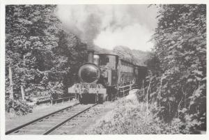 Hutchinson Train at Nunnery Bridge Isle Of Man Rebuilt  Railway Postcard