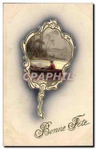 Old Postcard Fancy Bonne fete