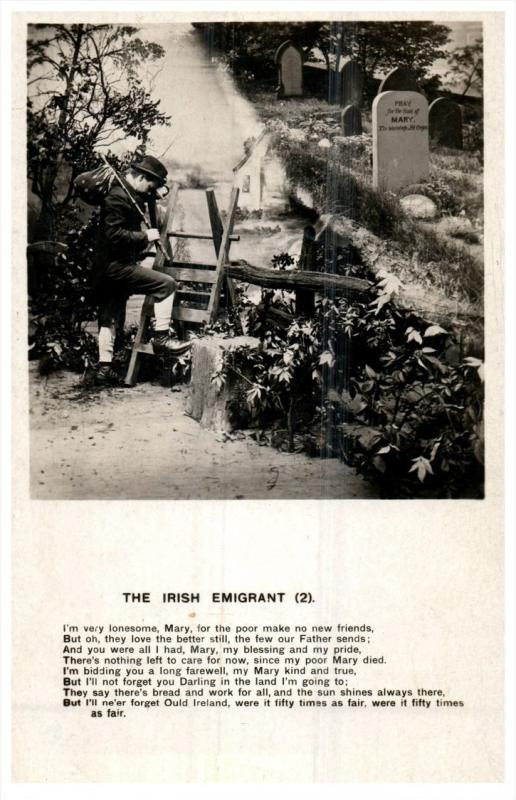 15034   Irish Life   irish   Emigrant photo and Poem