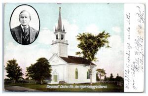 1908 Harpswell Center, Maine, Elijah Kellogg's Church Postcard