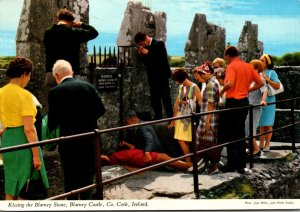 Ireland Co Cork Blarney Castle Kissing The Blarney Stone 1974
