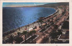 France Nice Coucher de soleil sur la Promenade des Anglais 1950 Photo