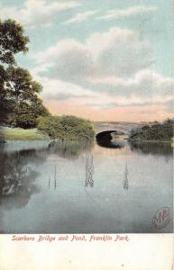 Boston Massachusetts~Franklin Park-Scarboro Bridge over Pond~c1905 Postcard