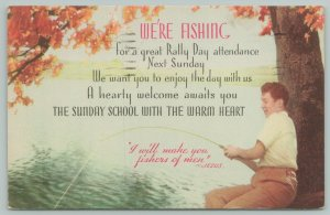 Oregon Illinois~Methodist Church Rally Day Sept 27 1942~Make You Fishers of Men