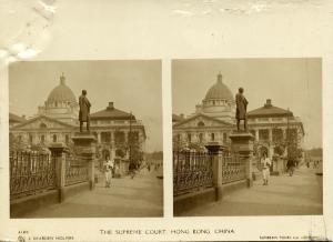 china, HONG KONG, The Supreme Court (1900s) Sunbeam Stereo Card, Dearden Holmes