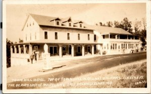 CUMBERLAND , MD Maryland RPPC Town Hill Hotel - STORE - STREET VIEW POSTCARD