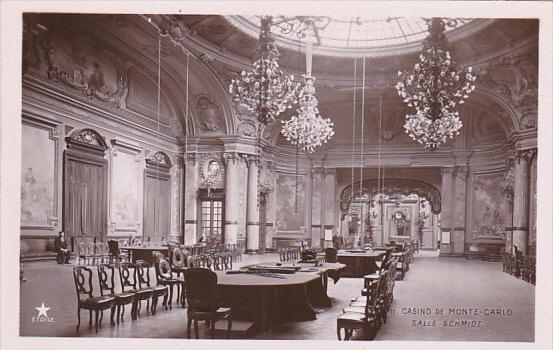 Monaco Monte Carlo Casino Interior Salle Schmidt Real Photo