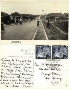 indonesia, JAVA BATAVIA, Tandjong Priok, Zuiderboorweg (1937) RPPC Postcard