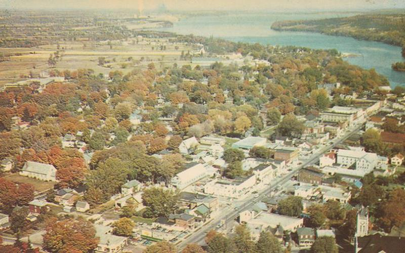 Aerial View of Picton, Ontario, Canada and the Bay of Quinte