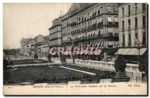 Postcard Old Rennes The New Gardens on the Vilaine