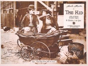 Giant Size Vintage Repro Movie Film Postcard Charlie Chaplin in The Kid OS14