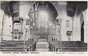 WEMBLEY, Middlesex, England, 1900-1910's; Interior , Parish Church