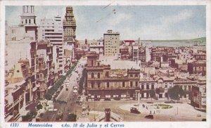 MONTEVIDEO, Uruguay, 1900-1910's; Avenida 18 de Julio Y El Cerro
