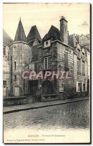 Old Postcard Alencon Commercial Court
