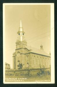 Nova Scotia St Peters Church Cheticamp Canada Real Photo Postcard RPPC