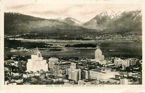 Canada, Vancouver, B.C., RPPC, Aerial View of Business Section