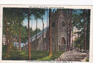 New York Utica Sarah Hill Wiley Memorial Chapel At Camp Round Lake of Masonic...