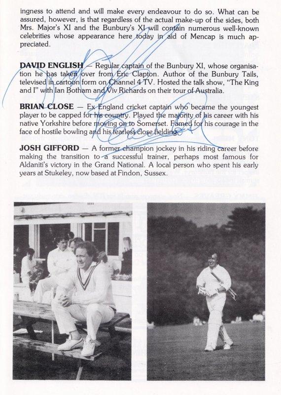 Edward Fox as Sir John Quartermaine Hand Signed Theatre Programme