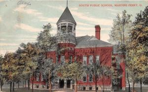 Martins Ferry Ohio~South Public School Building~c1910 Postcard