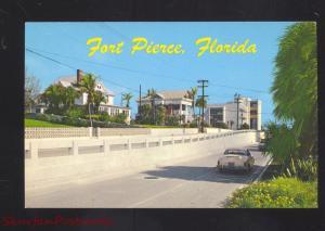 FORT PIERCE FLORIDA RESIDENCE STREET SCENE 1950's CARS