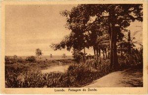 PC CPA ANGOLA / PORTUGAL, LOANDA, PAISAGEM DO DANDE, Vintage Postcard (b21633)