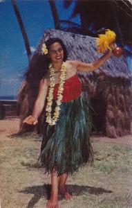 Hawaii Honolulu Hula Dancer 1960