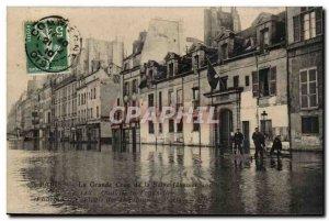 Paris Venice Old Postcard Floods 1910 Quai de la Tournelle (Central Pharmacy ...