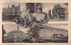 HODONIN CZECHOSLOVAKIA MULTI IMAGE PHOTO POSTCARD 1948