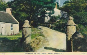 TUCK; HERM ISLAND, Channel Islands, United Kingdom; Entrance to the Drive, 10...