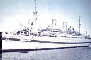 New Postcard Hospital Ship SS Berlin III at Langelinie 1940-42 WW2 80K