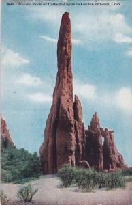 Colorado Colorado Springs Needle Rock Or Cathedral Spire In Garden Of Gods