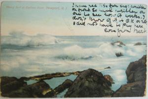 Heavy Surf At Eatons Point Newport RI 1908