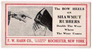 Shawmut Rubbers, F.W.Hahn Co. Rochester NY