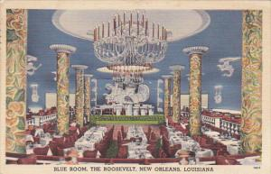 Louisiana New Orleans Blue Room Dinner and Dancing Room The Roosevelt Hotel 1951