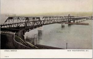 Steel Bridge New Westminster BC British Columbia Unused Postcard F3
