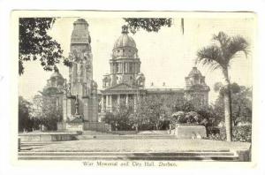 War Memorial & City Hall , Durban, South Africa, 20-40s
