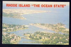 Wickford, Rhode Island/RI Postcard, Aerial View Of Wickford Cove