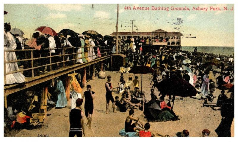 New Jersey  Asbury Park ,  4th Avenue bathing Grounds