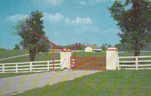 Entrance to Calumet Horse Farm Lexington Kentucky