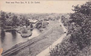 Rail Roads, Water Outlet, View Near Penn Yan, New York, 00-10´s