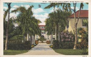 MIAMI BEACH, Florida, PU-1935; One Of The Lovely Homes