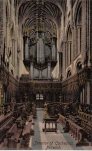 NORWICH, England, UK, 1900-10s; Interior of Cathedral