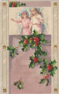 Angels wishing you a Merry Christmas, PU-1909