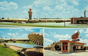 Wilson North Carolina Huntington Motel Multiview Vintage Postcard K42200