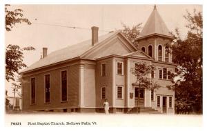 Vermont  Bellow Falls ,  First Baptist Church , RPC