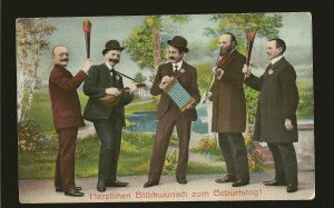 Germany Postmarked 1908 Offenbach Orchestra Color Postcard