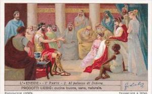 Liebig Vintage Trade Card S1238 Aeneid Part I No 2 Al palazzo di Didone