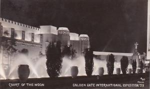 Court Of The Moon Golden Gate International Expo 1939 Real Photo